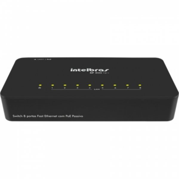 Switch 8 Portas 10/100 Mbps Sf 800 Q+ Intelbras