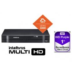 DVR Multi Hd 04 Ch Mhdx 1104 Com Hd De 1 Tera Intelbras